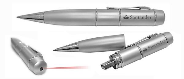Caneta pen drive com laser pointer de 2GB e 4GB